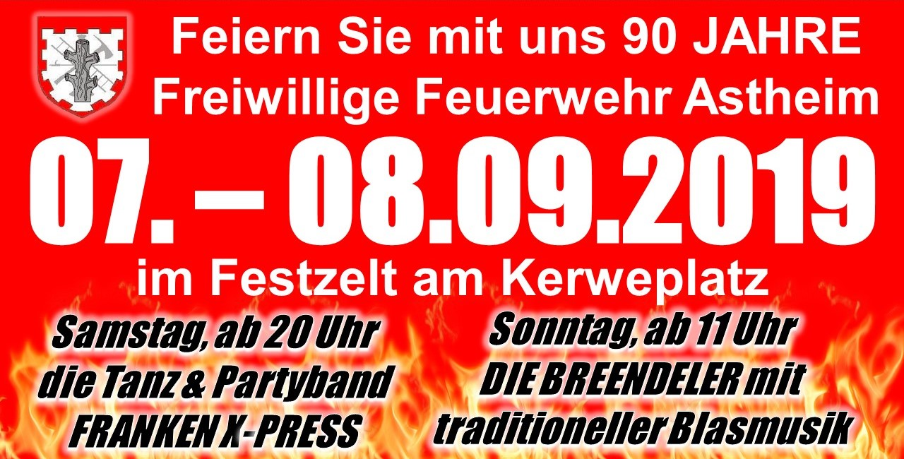90 Jahre FFW-Astheim am 07. – 08.09.2019