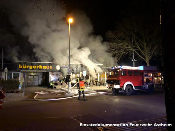 Brandeinsatz – Astheimer Bürgerhaus